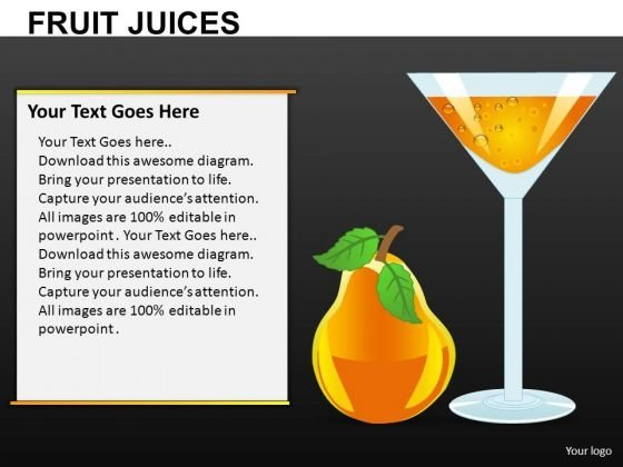 Fruit Juices Editable PowerPoint Slides Download