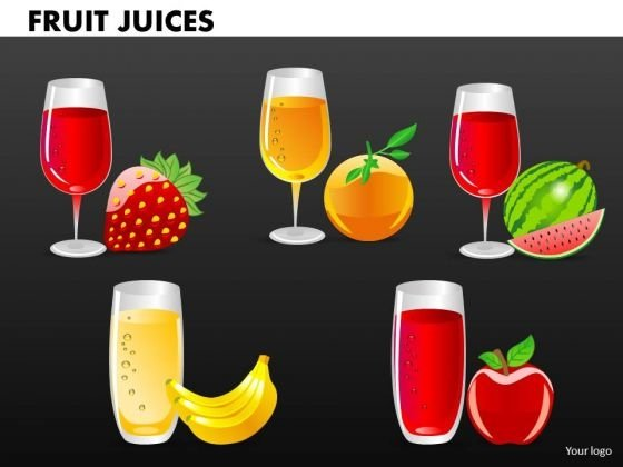 Fruit Juices PowerPoint Templates And Fruits PowerPoint Slides