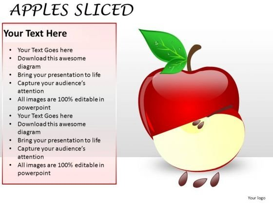 Fruit PowerPoint Slides And Apples PowerPoint Image Templates