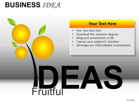 Fruitful Ideas PowerPoint Templates