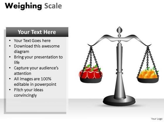 Fruits Scale Health PowerPoint Slides And Ppt Diagram Templates