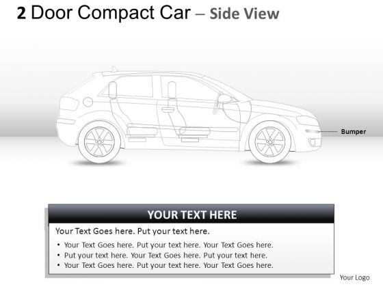 Fuel 2 Door Blue Car Side PowerPoint Slides And Ppt Diagram Templates