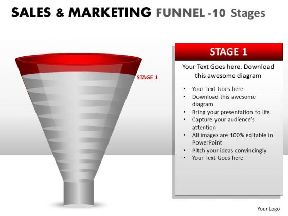Funnel Conversion Sales Process Diagram PowerPoint Slides And Ppt Templates