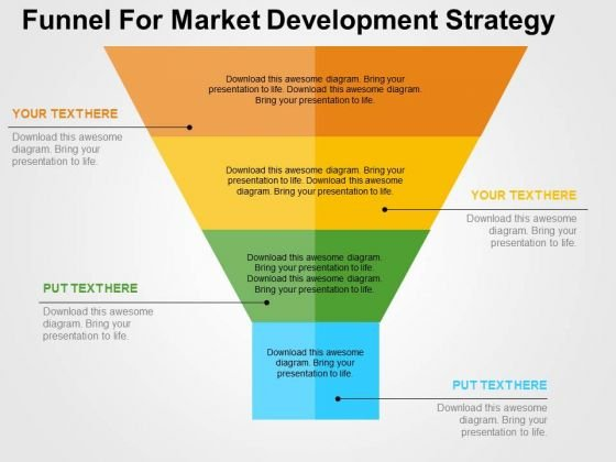 Funnel For Market Development Strategy PowerPoint Template