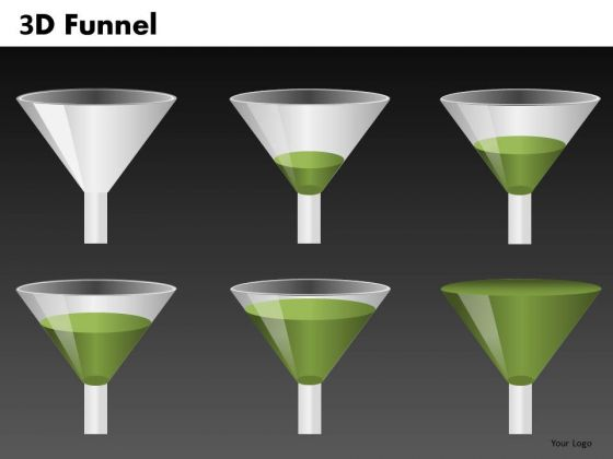 Funnel Graphics Set For PowerPoint Presentations
