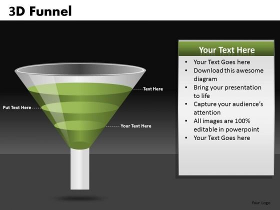 Funnel PowerPoint Diagrams Showing Conversions Ppt Slides