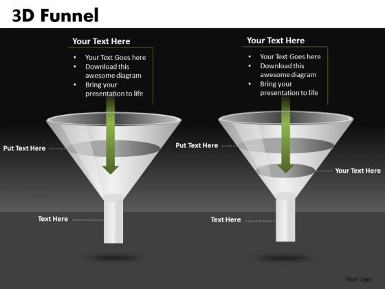 Funnels PowerPoint Slides With Editable Text Boxes For Ppt Presentations