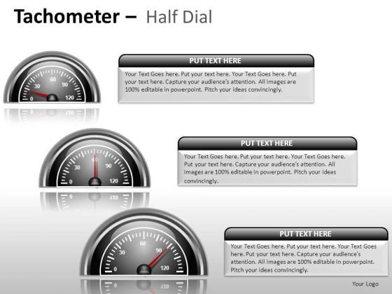 Future Tachometer Half Dial PowerPoint Slides And Ppt Diagram Templates