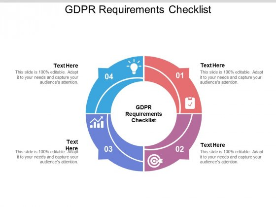 GDPR Requirements Checklist Ppt PowerPoint Presentation Inspiration Good Cpb Pdf