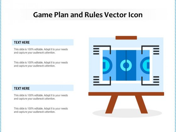 Game Plan And Rules Vector Icon Ppt PowerPoint Presentation Visual Aids Infographics PDF