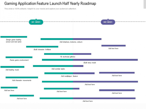 Gaming Application Feature Launch Half Yearly Roadmap Information