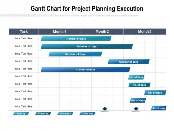 Gantt Chart For Project Planning Execution Ppt PowerPoint Presentation Styles Graphics