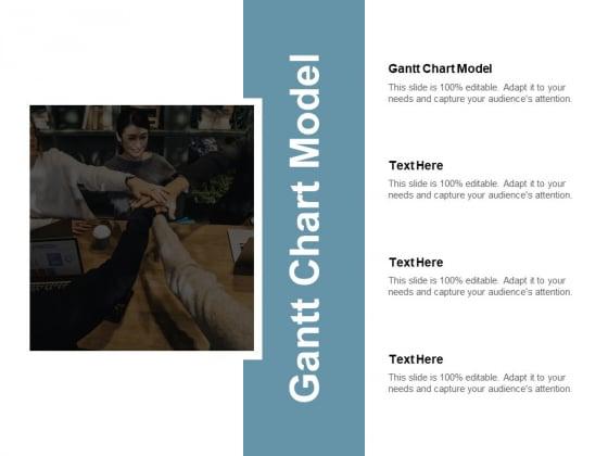 Gantt Chart Model Ppt PowerPoint Presentation Ideas Clipart Images Cpb