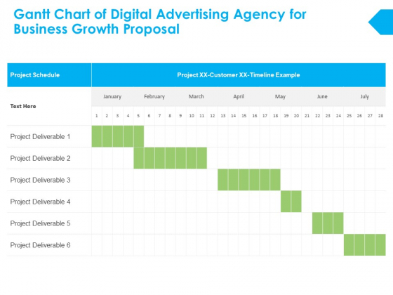 Gantt Chart Of Digital Advertising Agency For Business Growth Proposal Ppt PowerPoint Presentation Gallery Graphics