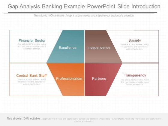 Gap Analysis Banking Example Powerpoint Slide Introduction
