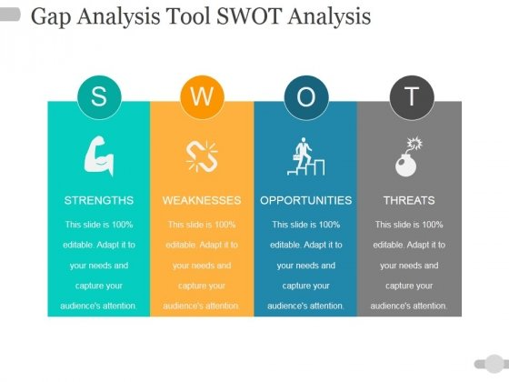 Gap Analysis Tool Swot Analysis Ppt PowerPoint Presentation Outline Graphics Template