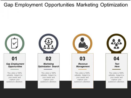 Gap Employment Opportunities Marketing Optimization Search Revenue Management Ppt PowerPoint Presentation Model Rules