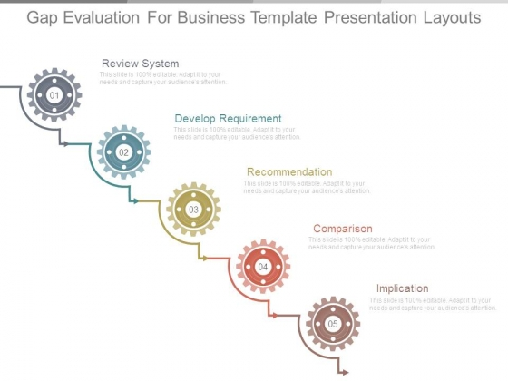 Gap Evaluation For Business Template Presentation Layouts