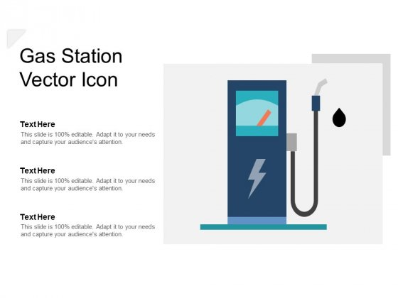Gas Station Vector Icon Ppt PowerPoint Presentation Visual Aids Background Images