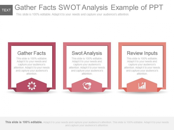 Gather Facts Swot Analysis Example Of Ppt