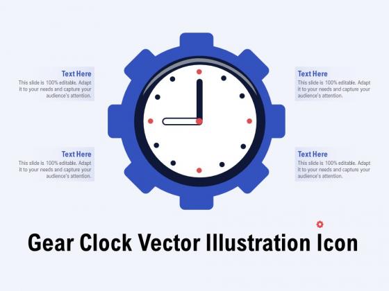 Gear Clock Vector Illustration Icon Ppt PowerPoint Presentation Summary Design Ideas PDF