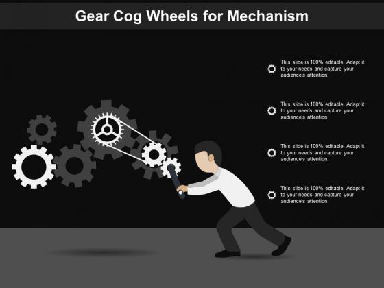 Gear Cog Wheels For Mechanism Ppt PowerPoint Presentation Styles Layout Ideas