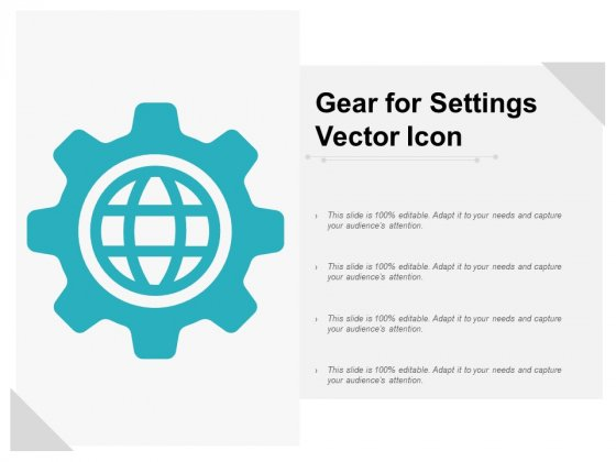 Gear For Settings Vector Icon Ppt PowerPoint Presentation Professional Templates