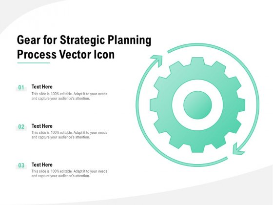 Gear For Strategic Planning Process Vector Icon Ppt PowerPoint Presentation Model Layouts