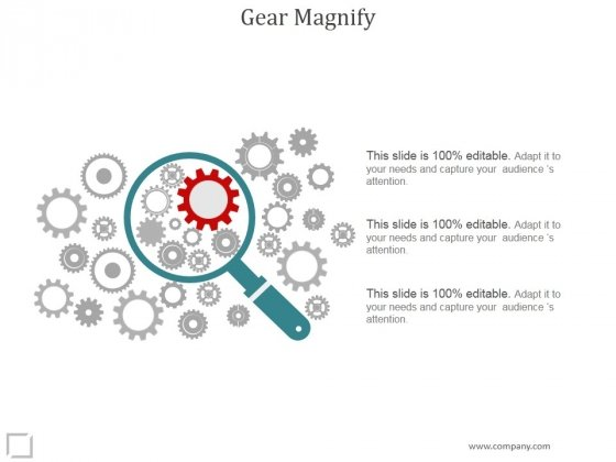 Gear Magnify Ppt PowerPoint Presentation Example