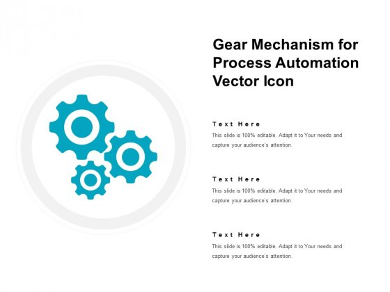 Gear Mechanism For Process Automation Vector Icon Ppt PowerPoint Presentation Examples