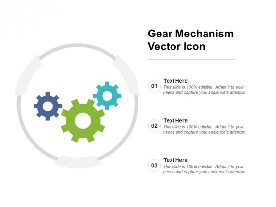 Gear Mechanism Vector Icon Ppt PowerPoint Presentation Model Deck