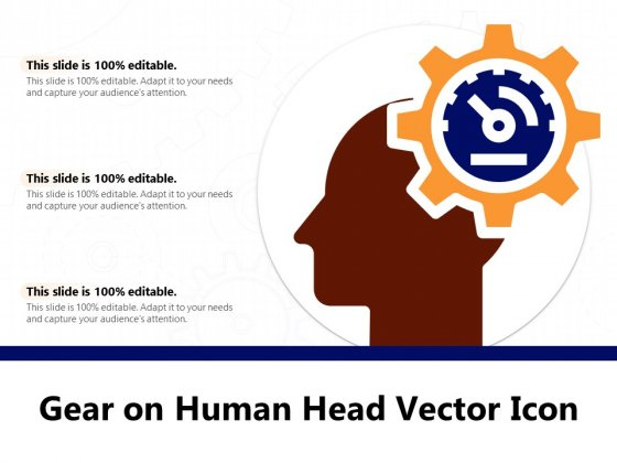 Gear On Human Head Vector Icon Ppt PowerPoint Presentation Professional Topics PDF