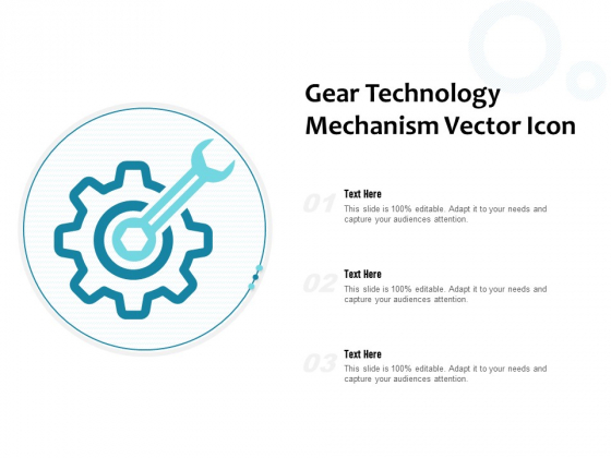 Gear Technology Mechanism Vector Icon Ppt PowerPoint Presentation Model Example