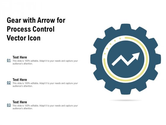 Gear With Arrow For Process Control Vector Icon Ppt PowerPoint Presentation Inspiration Slide Portrait