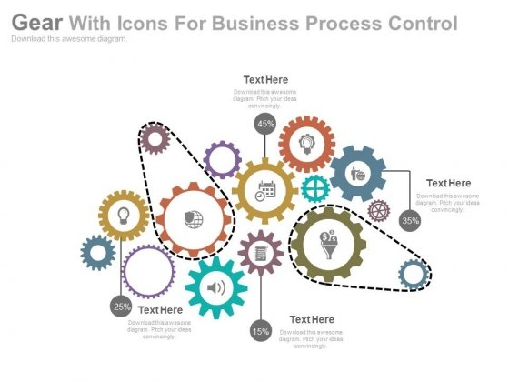 Gears Infographic Diagram For Process Control Powerpoint Template