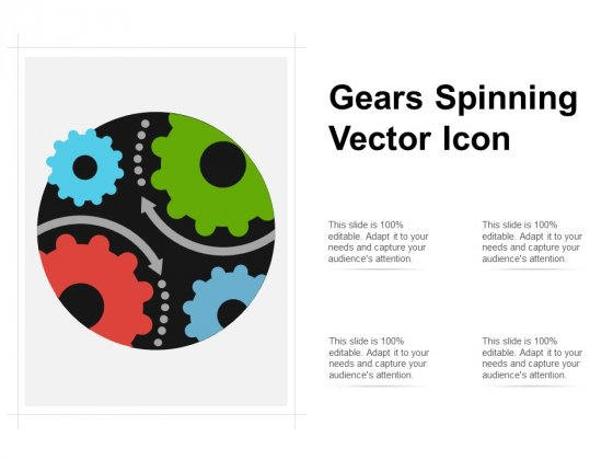 Gears Spinning Vector Icon Ppt PowerPoint Presentation Pictures Design Inspiration