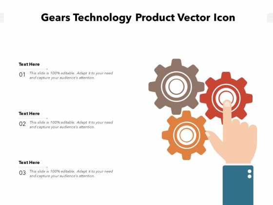 Gears Technology Product Vector Icon Ppt PowerPoint Presentation Gallery Inspiration PDF