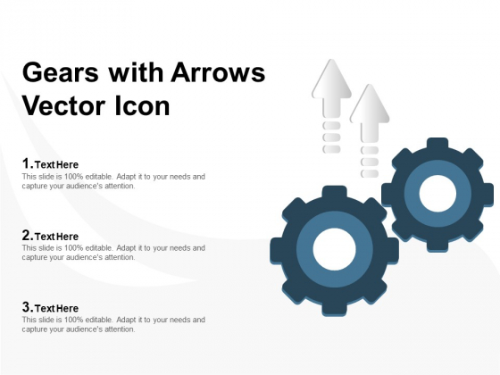 Gears With Arrows Vector Icon Ppt PowerPoint Presentation Inspiration Rules PDF
