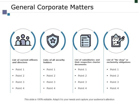 General Corporate Matters Ppt PowerPoint Presentation Ideas