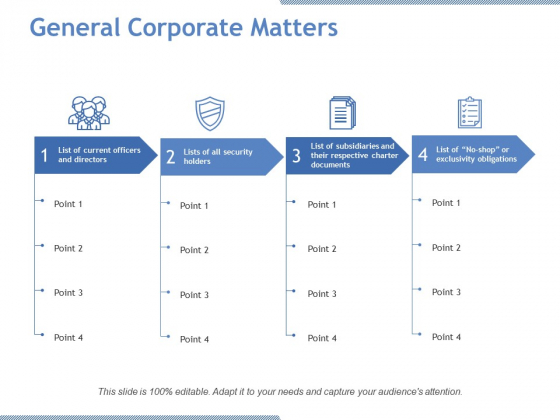 General Corporate Matters Ppt PowerPoint Presentation Infographics Slideshow