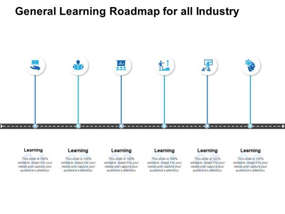 General Learning Roadmap For All Industry Ppt PowerPoint Presentation Ideas Example