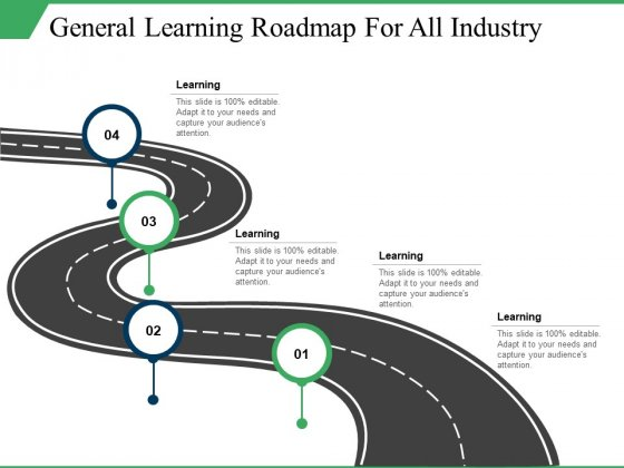 General Learning Roadmap For All Industry Ppt PowerPoint Presentation Professional Information