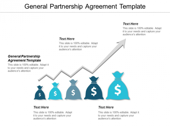General Partnership Agreement Template Ppt PowerPoint Presentation Portfolio Cpb