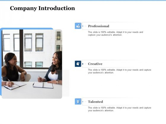 Generate Digitalization Roadmap For Business Company Introduction Portrait PDF