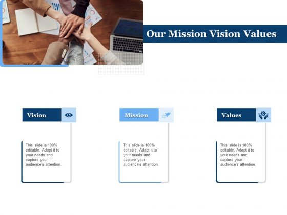 Generate Digitalization Roadmap For Business Our Mission Vision Values Topics PDF