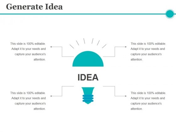 Generate Idea Ppt PowerPoint Presentation File Tips
