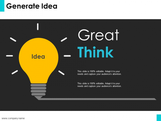 Generate Idea Ppt PowerPoint Presentation Outline Graphics Template
