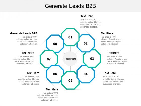 Generate Leads B2B Ppt PowerPoint Presentation Model Background Image Cpb