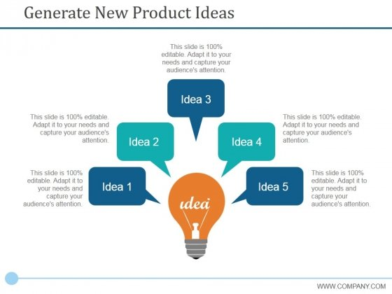 Generate New Product Ideas Ppt PowerPoint Presentation Show Tips