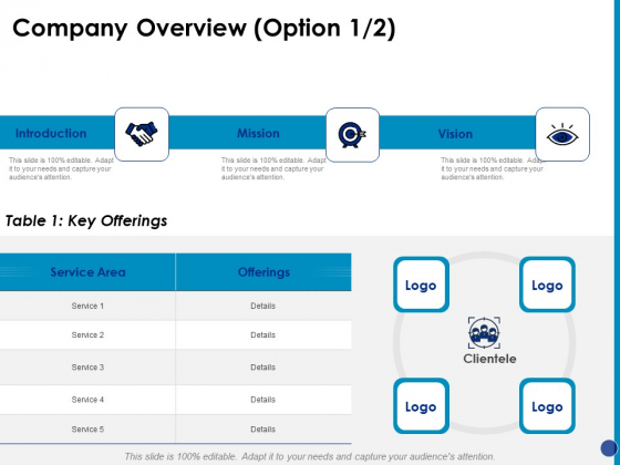 Generating Financial Support Company Overview Ppt Gallery Templates PDF